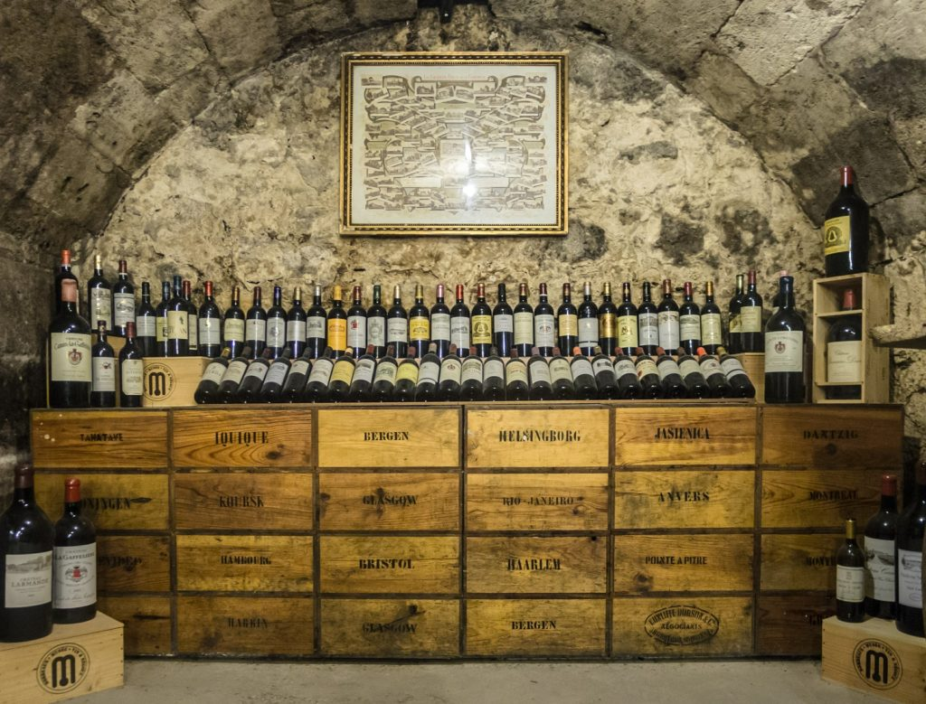 Wine cellar in historical building
